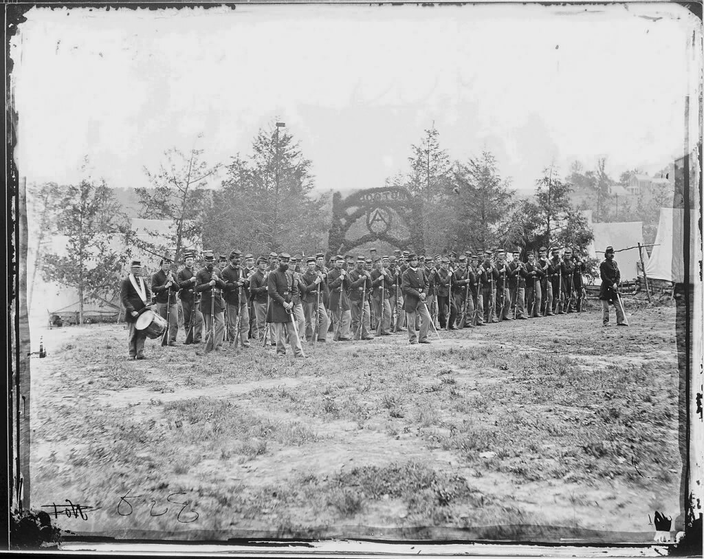Civil War Photo of Company A, 1st Regiment, Pennsylvania Infantry