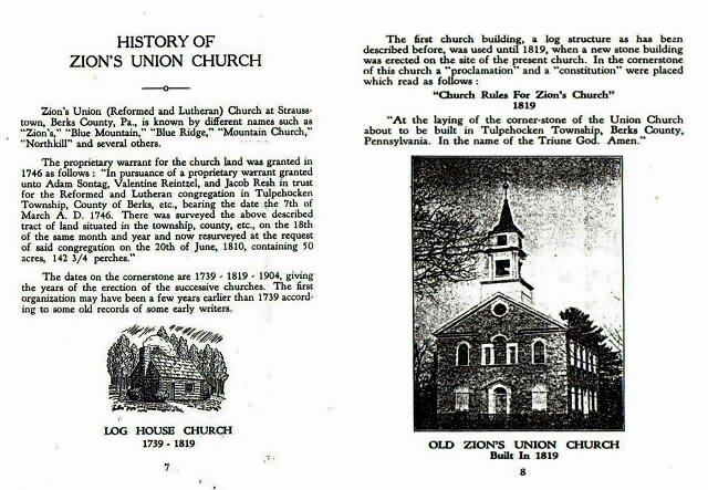 A Church History of Zion's Union Church, p.  7 & 8